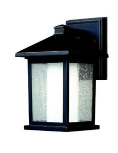 Z-Lite 524S Mesa Outdoor Wall Light by Z-Lite. $137.54. This small sized outdoor wall mount is unique because of its duel-layered construction that gives it a stylish, modern look. The outer glass shell is seedy glass, while the inner glass is a matte opal, which creates an inviting warm glow. To complete the look, this outdoor fixture is finished in oil rubbed bronze, and is made of cast aluminum.
