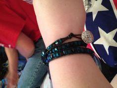 3 wrap bracelet I made.