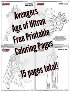 My kids love when I print free coloring pages! Free Printable Coloring Pages Avengers Age of Ultron free coloring book