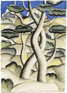Fernand Léger #arbres #trees Auguste Herbin, European Paintings, Arte Pop, French Artists, Tree Art, Landscape Paintings, Landscapes, Painting & Drawing, Flower Art