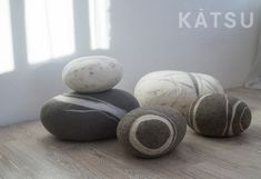 Felt stone poufs or pillows. Made of soft natural wool. Like real rocks. KATSU is a stone-like wool ottomans, pillows and poufs. Felt Pillow, Color Scale, Beach Cottage Decor, Wool Pillows, Pouf Ottoman, New Living Room, Kid Spaces, Modern Interior, Home Accessories