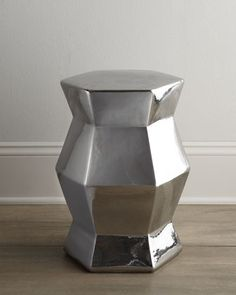 NM EXCLUSIVE Silvery Ceramic Stool - Neiman Marcus (on sale)