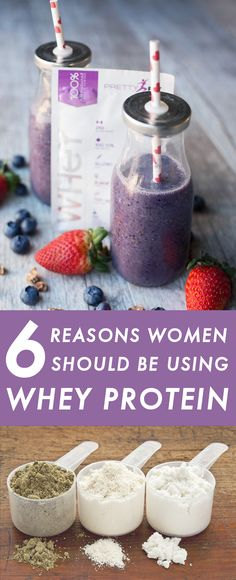 Besides being affordable and delicious, whey offers benefits to women other prot… Whey Protein Benefits, Whey Protein Smoothies, Whey Protein Recipes, Whey Protein Shakes, Protein Bites, Protein Foods, Whey Protein For Women, Protien Shakes For Women, Whey Shake