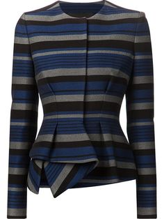 Proenza Schouler Striped Peplum Jacket worn by Olivia Pope Peplum Jacket, Peplum Dress, Peplum Blazer, Cotton Blazer, Striped Jacket, Cotton Jacket, Blazer Jacket, Stripe Blazer, Fashion Wear