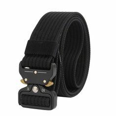 f8ec6ebb096 Trend new Unisex belt Quick release Alloy Insert buckle Tactics belt outdoor