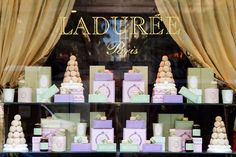 La Duree on the Champs Elysees in Paris.  A feast for the eyes & stomach.  Must stop here if you visit Paris!