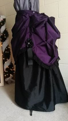 Steampunk Skirt Parlour Bustle Skirt Black Lace by BlueLadyCouture