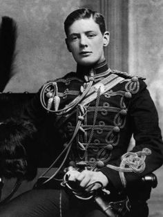 A rare photo of a young Winston Churchill.    1895