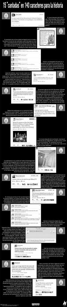 15 cantadas en Twitter para la historia #infografia con muchos de los casos que explicamos en cursos de social media