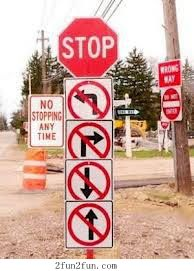 OSHA visited a small town in Kentucky and noticed they needed some direction on how to put up their road signs.