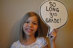 End of the year speech bubble. Fun picture idea to send home that last day of school.