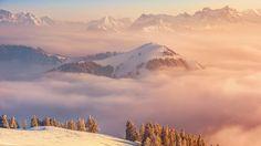 Alps, 5k, 4k wallpaper, Switzerland, mountains, clouds, pines