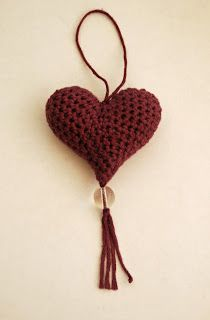 To celebrate the Launch of my new blog I would like to share with you a pattern I designed for some lovely hanging hearts:  Crocheted Heart ...