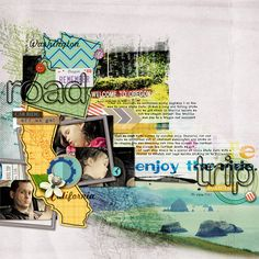 Scrapbook Page with chevron pattern by Amber Ries   GetItScrapped.com/blog