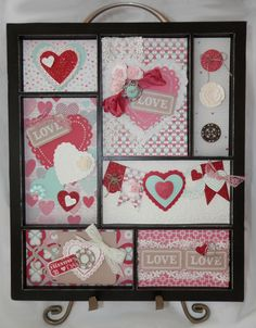 I just LOVE the way this turned out.  The Artisan Embellishment Kit is awesome.    Photo valentine-printers-tray.jpg    full :: Printers Tray decorated with Valentine Inserts.unknown© 2013 Stampers Club, Karen Trelfa Independent Stampin' Up! Demonstrator