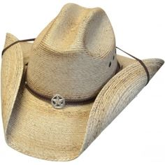1374e4067d459 Adult Western Star cattleman Toasted Guata Straw Cowboy Hat