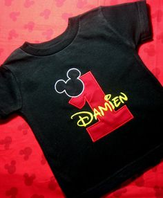 Personalized First Birthday Mickey Mouse Red by SewingByGrace, $22.00