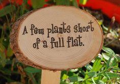 Humorous Garden Signs Ideal Gift For The by AMixedBagCanada. , via Etsy.