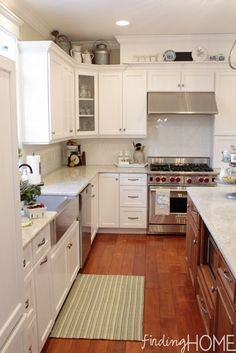 """I should extend the """"height"""" of my over-stove cabinets with this idea!"""