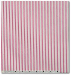 Canvas Fabric - Mattress Ticking Pink $7.95 / yard