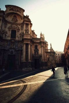 Murcia, Spain. My favorite, beloved cathedral. Every time I look at this cathedral, I remember what it was like to live in Murcia and I miss it so much.