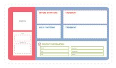 Medical Box prints and plans, for use at school, church or babysitters.