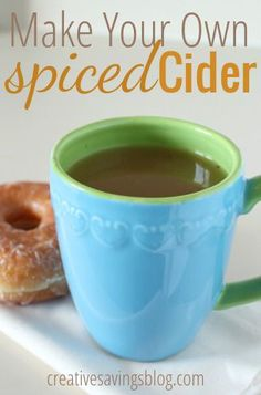 Skip the drive-thru and make your own spiced cider at home. Just a few ingredients leave your kitchen smelling like Fall! #fall #recipe #cider
