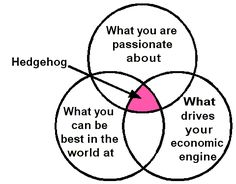 Flywheel of growth… Hedgehog Concept Reference: Good To Great – Jim Collins ::DISCLAIMER::