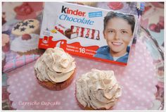 cupcakes de kinder chocolate con buttercream de kinder chocolate