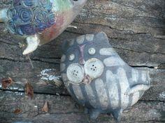 Raku Ceramic Tiger Flower Pot