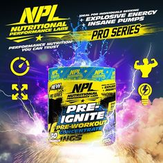 NPL's Pre-Ignite is a scientifically engineered Pre-Workout Concentrate… Nutrition, Workout, Instagram Posts, Products, Work Out, Exercise, Gadget