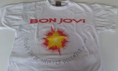 90s BON JOVI T Shirt L 6th Annual Christmas Concert Tour 1995 White Cities Tee