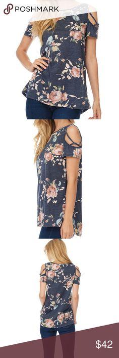 NWT Retail!!! Cold Shoulder Floral Top Gorgeous floral top with elegant shoulder details. Tops Tunics