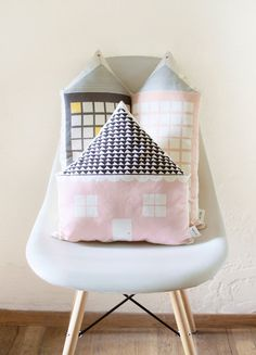 House Shaped Cushion by Plumed on Etsy