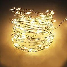 100er LED Lichterkette transparentes Kabel Innen Außen Weihnachtsbeleuchtung Xmas (warmweiß)