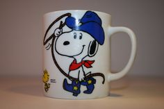 Vintage Snoopy Mug coffee cup snoopy and by ANewDayVintage on Etsy, $9.00