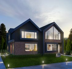 (BBLOC) Building Bloc Design is a full service design firm focusing attention to residential and interior design. Duplex Design, House Design, Building Exterior, Building A House, Gable Roof Design, Modern Family House, Shade House, Narrow House, Duplex House