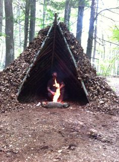 Shelter made by Scout Bushcraft. He can be found at facebook and youtube.