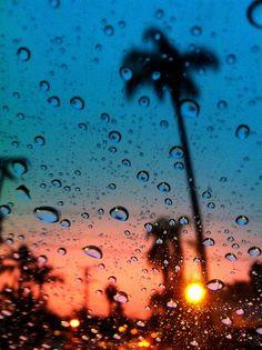 rain + sunset = perfection