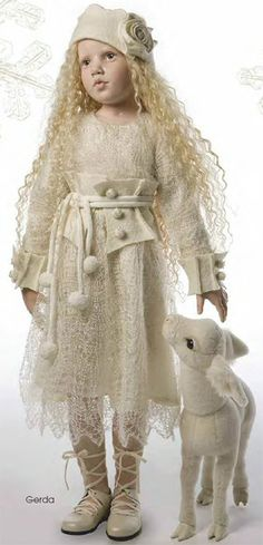 hildegard gunzel beautiful collectible porcelain Gerda Dolls