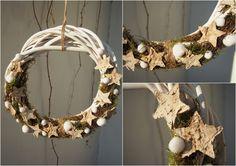 dekoracje świąteczne/ christmas ring/star/moss