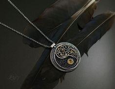 Yin and yang jewelry Spiritual Jewelry, Yoga Jewelry, Citrine Gemstone, Gemstone Necklace, Yoga Gifts, Silver Pendants, Yin Yang, Wire Wrapped Jewelry, Handmade Silver