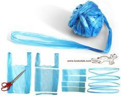 Plastic Bags Yarn - Bag For Women And Babies Reuse Plastic Bags, Plastic Bag Crafts, Plastic Bag Crochet, Yarn Crafts, Diy Crafts, Plastik Recycling, Crochet Projects, Sewing Projects, Recycling Projects