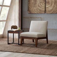 Madison Park Adria Off-white Upholtered Chair