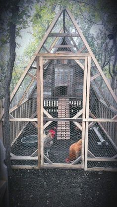 Chicken Coop - Chicken Coops That You Can Do It Youself Building a chicken coop does not have to be tricky nor does it have to set you back a ton of scratch. Chicken Barn, Chicken Coup, Chicken Runs, Chicken Houses, Simple Chicken Coop, Inside Chicken Coop, A Frame Chicken Coop, Amish Chicken, Small Chicken Coops