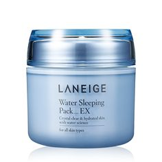 Laneige Water Sleeping Pack_EX is a light gel-type, nighttime mask that provides intensive hydration, vitality, and brightness while you with deep relaxation through pleasant aroma. Laneige Water Sleeping Mask, Sleeping Pack, Light Gels, Korean Skincare Routine, Skincare Blog, Shops, Skin Care Remedies, Healthy Skin Care, Piece Of Cakes