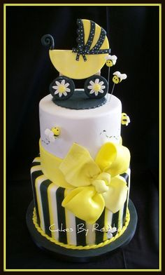 Mommy To Bee baby shower cake by Cakes By Roselyn, via Flickr