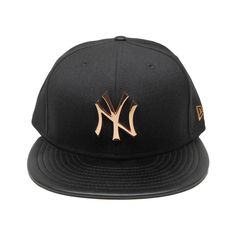 87c0baf746a73 New York Yankees New Era Hardware Logo 59Fifty Fitted Hat Black