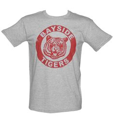 #TSVDAYCOMP Men's Grey Saved By The Bell Bayside Tigers T-Shirt