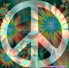 ❀☮ American Hippie Art ☮  Peace Sign❀